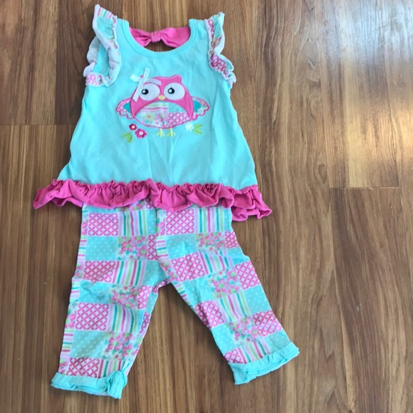 Nannette Other - Matching capri and tank top owl set